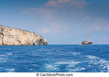 caves, Zakynthos island