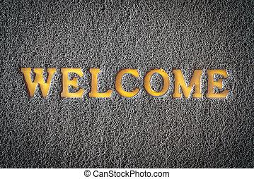 carpet welcome mat