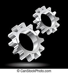 Chrome gears.