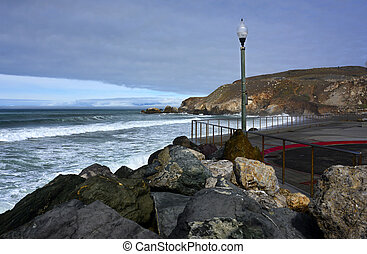Rockaway Beach, Pacifica Californi - The beautiful Rockaway...
