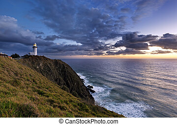 Byron Bay Lighthouse Sunrise - Byron Bay lighthouse,...