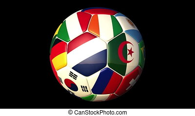 World Countries Football - Rotating World Countries Football...