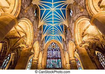 Interiors of Cathedral in Edinburgh