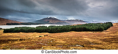 Lake in the foothills of Scotland