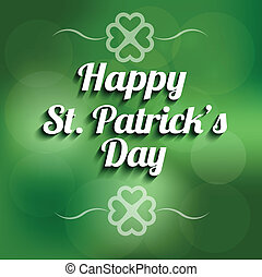 Vector St Patrick day background sign