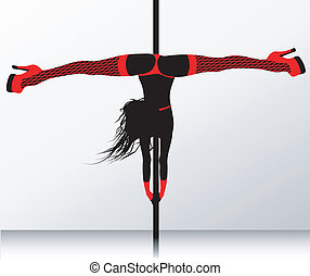 Pole dance Erotic striptease