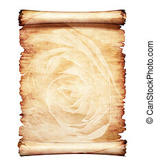 Old Parchment Romantic Background - Old piece of parchment...