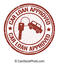 Car loan approved stamp - Car loan approved grunge rubber...