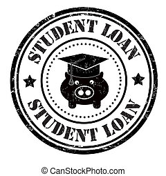 Student loan stamp - Student loan grunge rubber stamp on...
