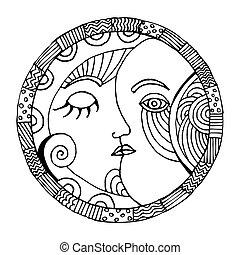 Oriental Moon illustration