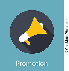 Promotion Flat Concept Icon Vector Illustration