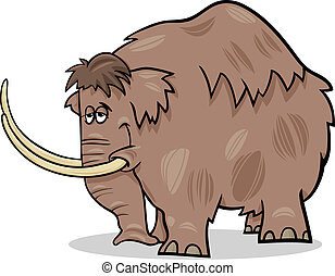 mammoth cartoon illustration - Cartoon Illustration of Funny...
