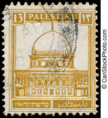 PALESTINE - CIRCA 1927: A stamp printed in Palestine shows...