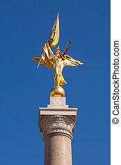 Gold statue atop World War I Memorial in Washington DC - USA