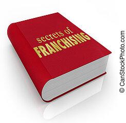 segreti, Franchising, libro, coperchio, consiglio, punte,...