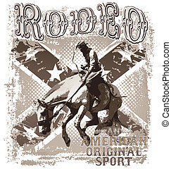 american original rodeo sport - rodeo vector art...