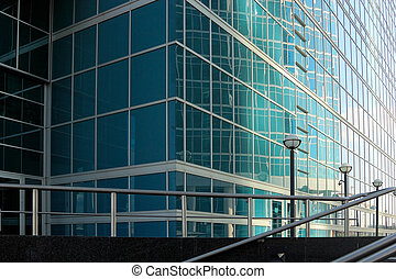 Office building close-up - Close up shot of an exterior of...