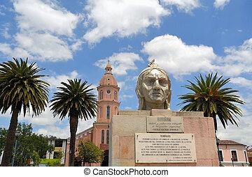 pueblo, español, Inca, iglesia, cacique, Mercado