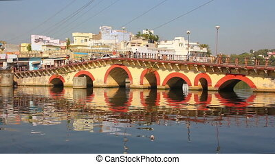 bridge over Pichola lake in Udaipur India