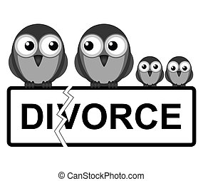 Family break up - Representation of family divorce or break...