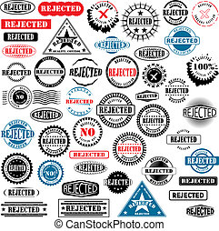 Rubber stamps Rejected