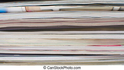 stacked of book pages