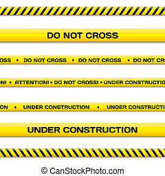 Under construction - Vector set of under construction lines...