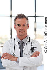Serious and Confident doctor - Portarit of a Serious and...