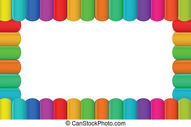 Colorful border design - Illustration of the colorful border...