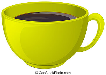 A cup of hot coffee - Illustration of a cup of hot coffee on...