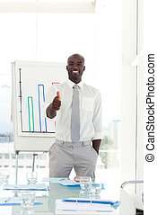 Happy Businessman after presentation - Portrait of a Happy...