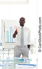 Business man with Thumb up - Potrait of a Business man with...