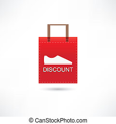 discount shoes in a bag
