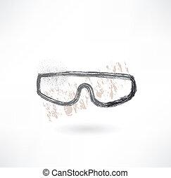 glasses grunge icon.