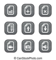 set of file icon, vector