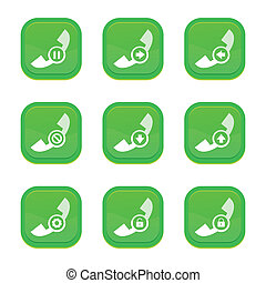 set of call icon, vector