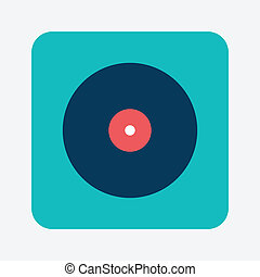 Musical record icon