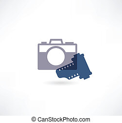 Photo icon. Camera with the film