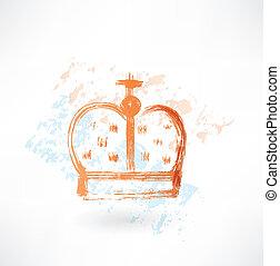 crown grunge icon