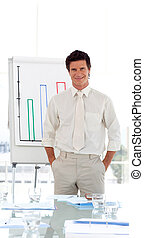 Business Lecturer at business university giving a...