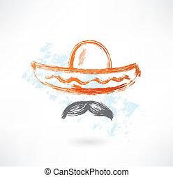 sombrero grunge icon