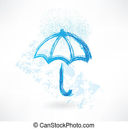 umbrella grunge icon