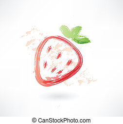 strawberry grunge icon