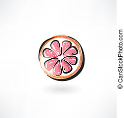 grapefruit grunge icon
