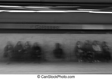 ghosts - rome, metro station colosseo