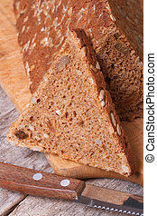 bread sliced with seeds
