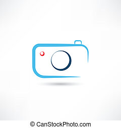 Simple blue camera icon