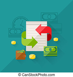 Illustration concept of refinance in flat design style