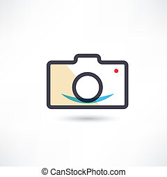 Black digital cam icon