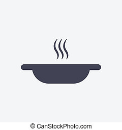 A plate of hot soup icon
